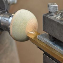 hemisphere cut with homemade ball cutting jig