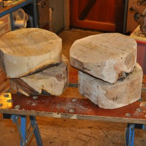 applewood and yew bowl blanks