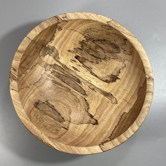 Spalted elm bowl