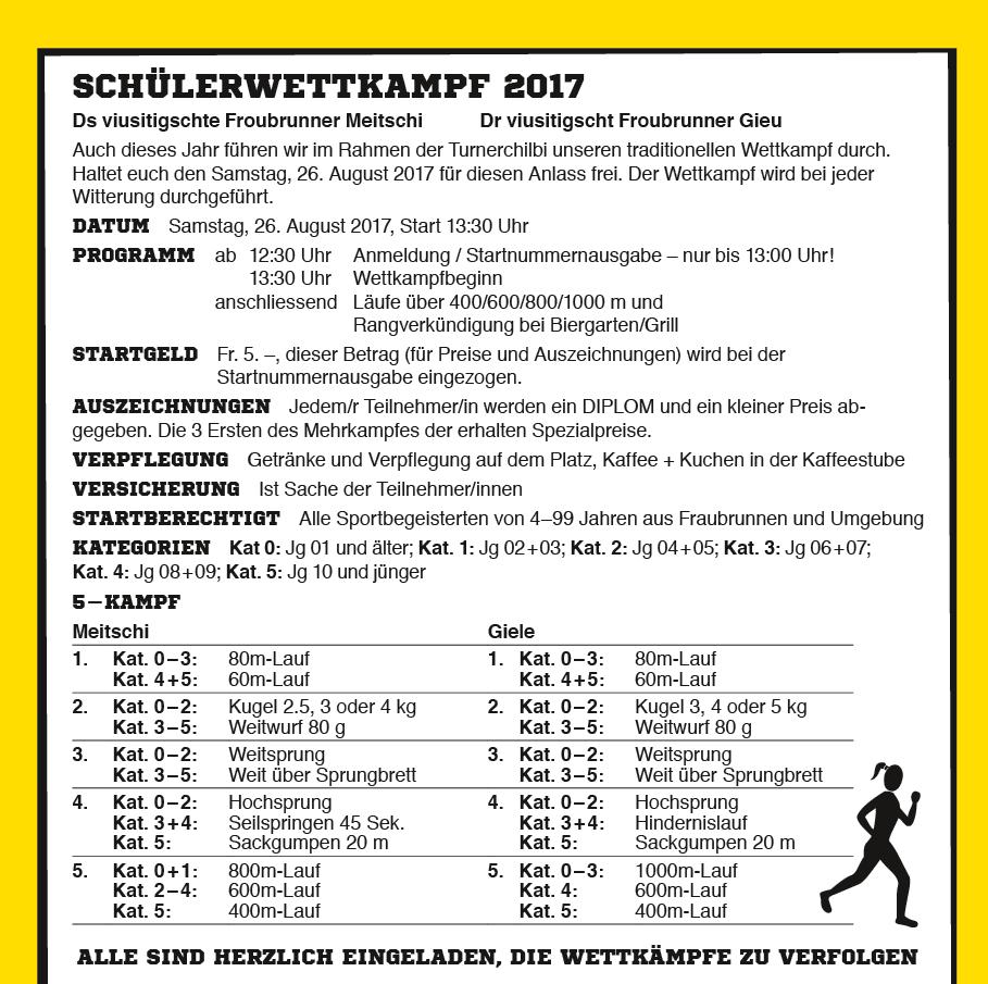 Schülerwettkampf 2017