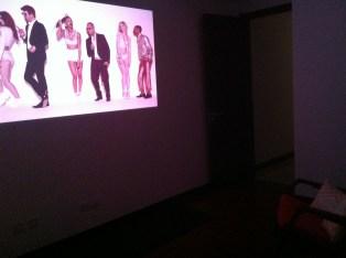Projector in playroom