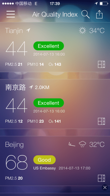 A beautiful day with air quality of Excellent!