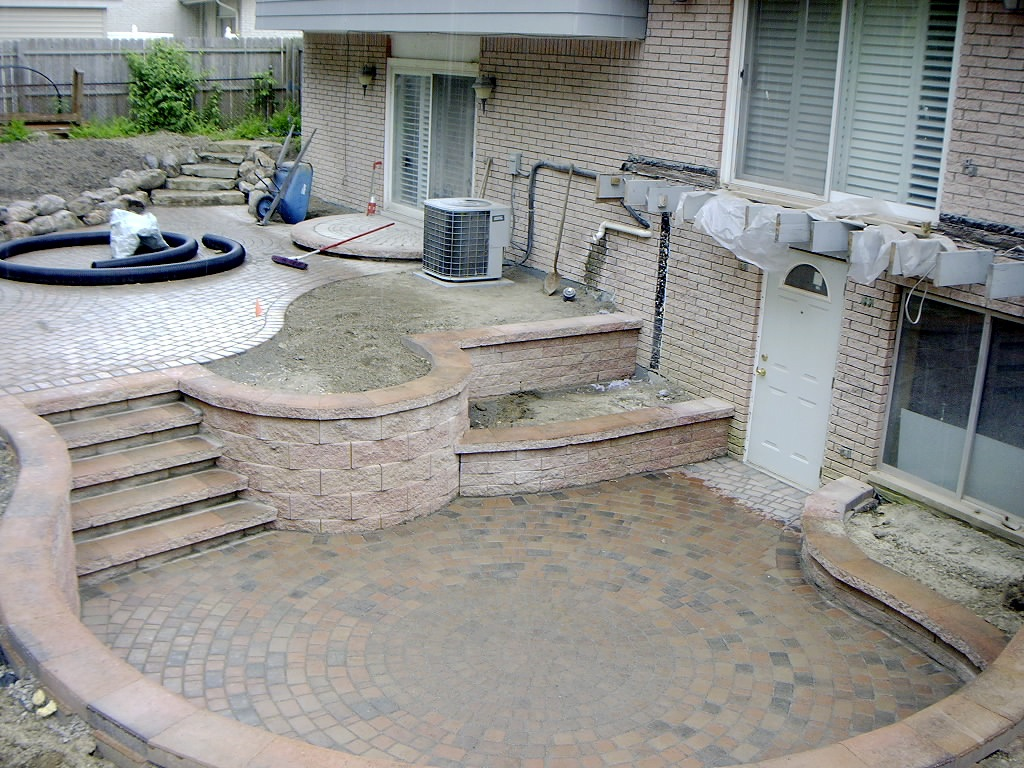 TRASH to TREASURE: Trex Deck, Patio, Walls, Plants ... on Walkout Basement Patio Designs id=35929