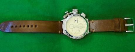U-Boat Solid Silver Watch