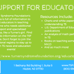 educators for girls with Turner Syndrome
