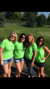 group of volunteers at golf outing