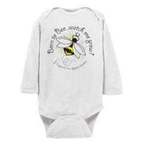 infant long sleeve onesie bee