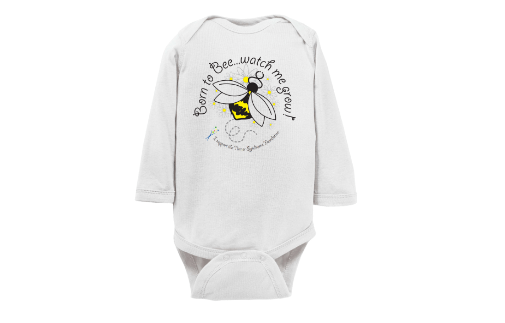 infant long sleeve onesie bee