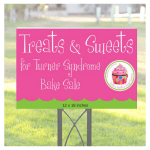 Treats Yard Sign