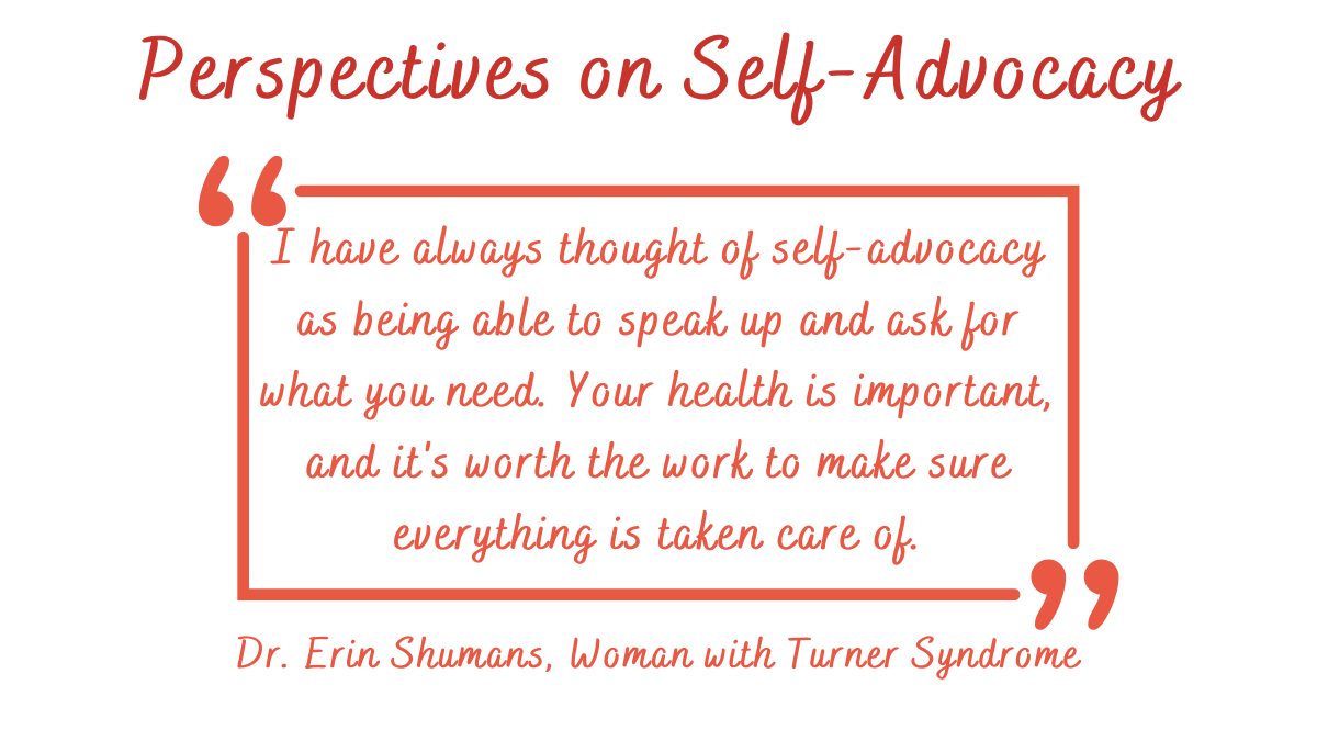 self-advocacy for Turner Syndrome