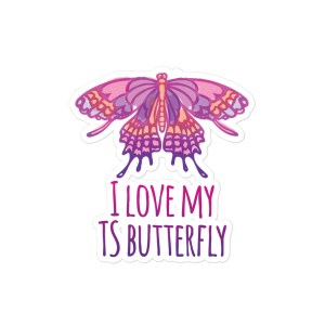 I Love My TS Butterfly (Pink)