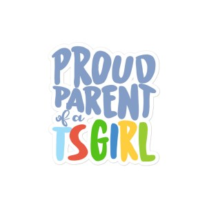 Proud Parent TS Girl Square