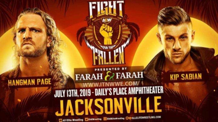 Adam Page derrota a Kip Sabian en AEW Fight For The Fallen