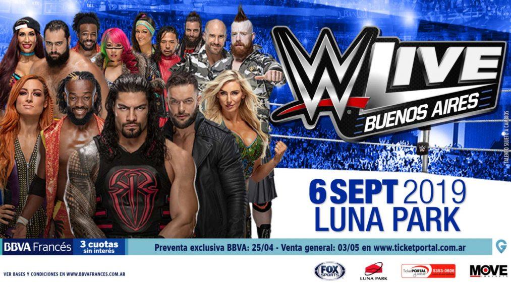 Resultados WWE Argentina 6 de Septiembre en Buenos Aires