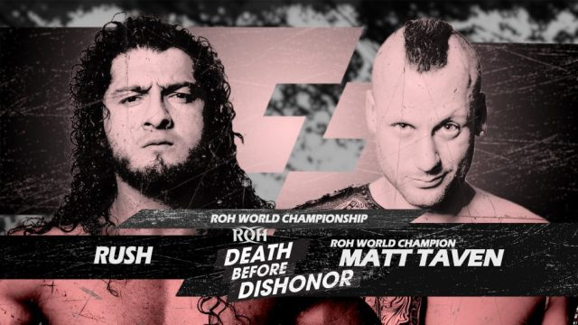 Cartelera actualizada ROH Death Before Dishonor