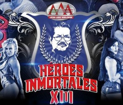 Cartelera oficial para AAA Héroes inmortales XIII