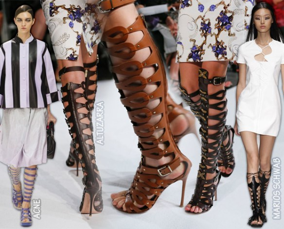 Gladiator sandals as seen in New York Fashion Week - spring 2013