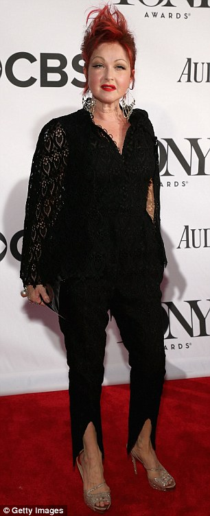 Cyndi Lauper on the red carpet at the Tony Awards - Photo credit: Getty Images