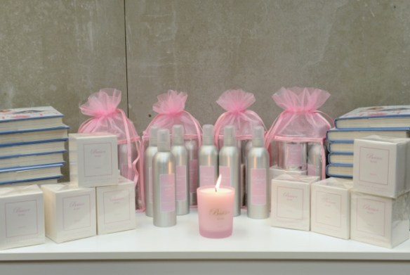 Kelly's new book, perfume and candle