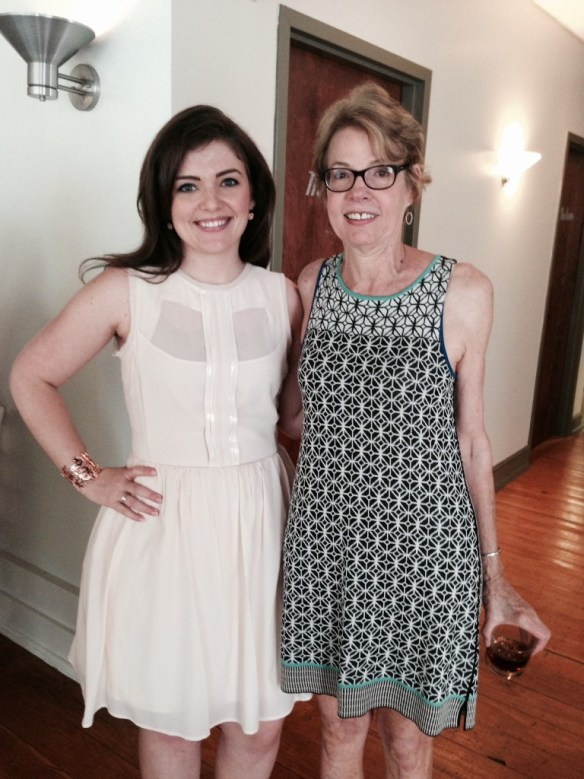 Nicole at her first bridal shower, with her Aunt  - feeling beautify and empowered