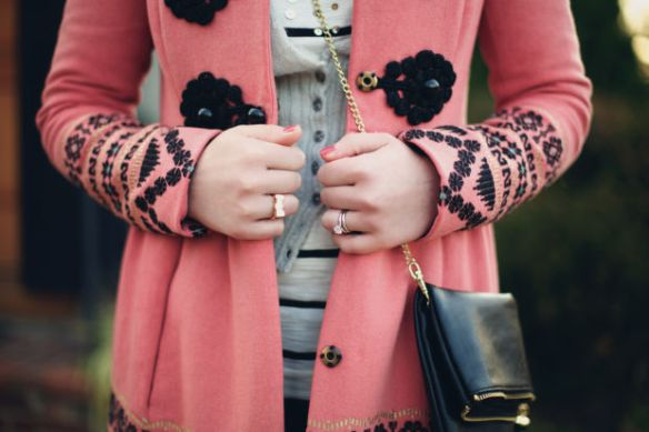 Jenny's pink coat from Anthropologie that started it all