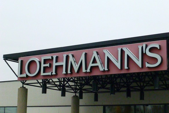 Loehmann's, January 10, 2014 - liquidation has begun ...