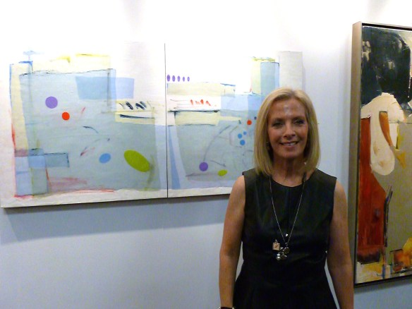 Francesca Azzara, in front of her artwork