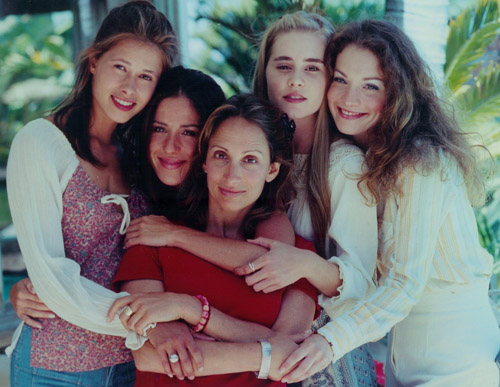 Drew Ann Rosenberg with Sex and a Girl cast members Angela Gots, Soleil Moon Frye, Alison Lohman and Lisa Brenner