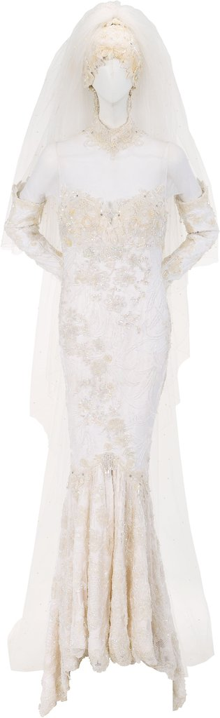 Whitney Houston's Marc Bouwer Wedding Dress