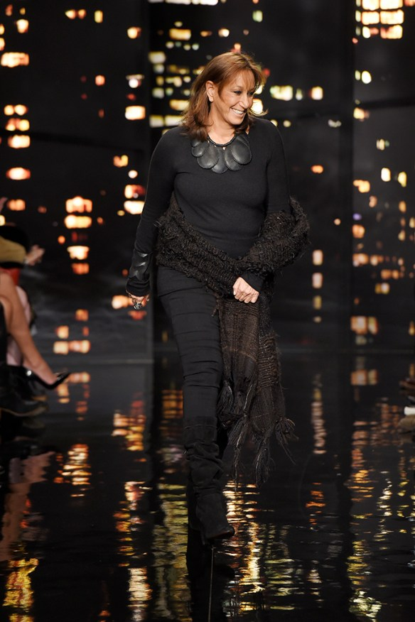 Donna Karan at her fall 2015 show: Giovanni Giannoni
