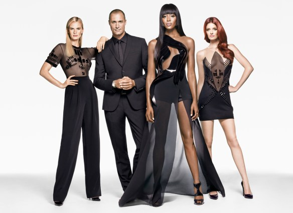 Courtesy of The Face, Season Two: Naomi Campbell, Lydia Hearst, Anne V and Nigel Barker