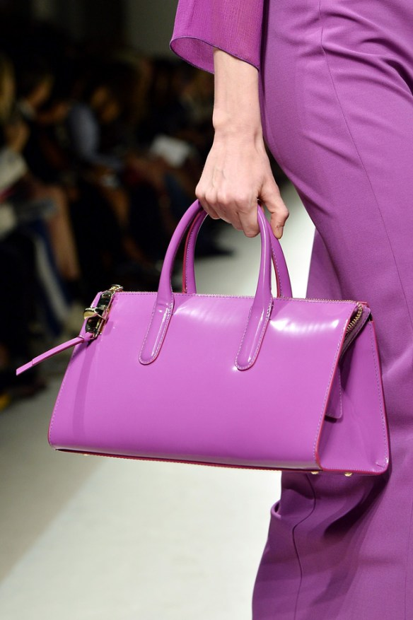 Milan 2014: Radiant Orchid was highlighted at the Max Mara Fashion Show  Photo Credit: Getty Images