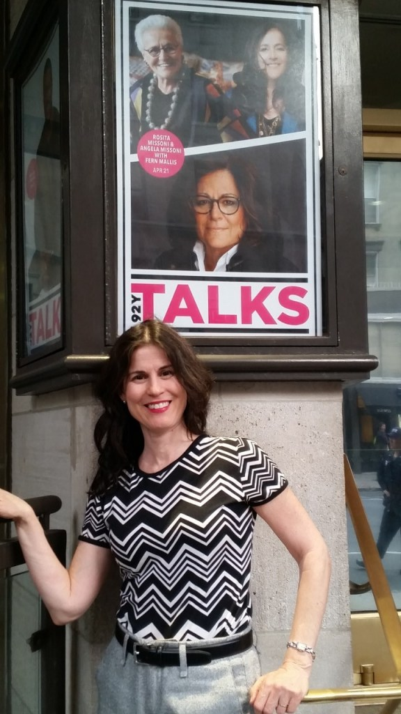 Outside the 92nd St Y, Fashion Icon Conversation with host, Fern Mallis