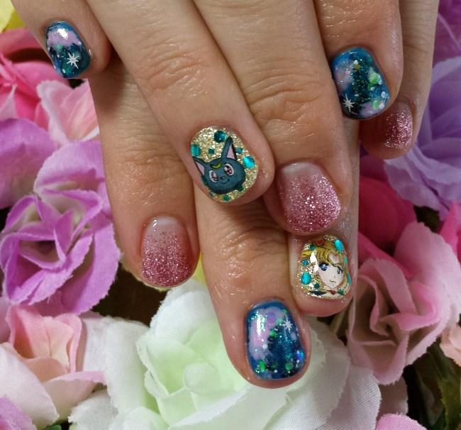 Nail art, Sailor Moon, Akihabara