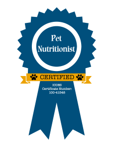Certified Pet Nutritionist | Canine Nutrition | Holistic Health