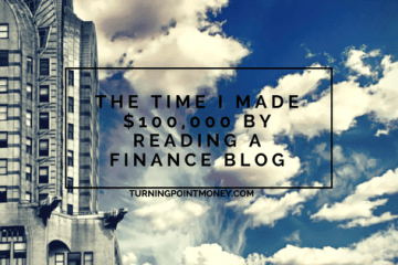 $100,000 by reading a finance blog