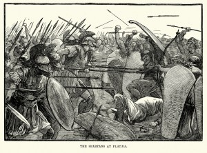 Spartans fighting at Plataea
