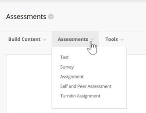 Create an assignment in Blackboard