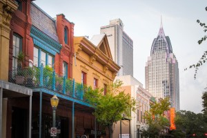 Buildings of downtown Mobile, Alabama