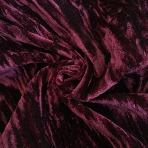 Pipe Pocket Burgundy Crushed Velour Burgundy Crushed Velvet Sample Swatch For Turn of Events Rental Drapery Las Vegas