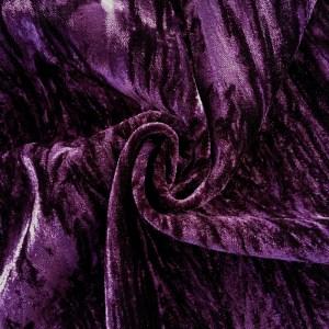 Pipe Pocket Purple Crushed Velour Purple Crushed Velvet Sample Swatch For Turn of Events Rental Drapery Las Vegas