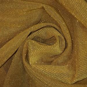 Pipe Pocket Gold Yellow Metal Chiffon Drapery Sample Swatch For Turn of Events Rental Drapery Las Vegas