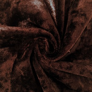 Pipe Pocket Cocoa Panne Velour Brown Crushed Velvet Sample Swatch For Turn of Events Rental Drapery Las Vegas