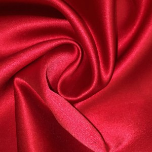 Pipe Pocket Shiny Red Satin Sample Swatch For Turn of Events Rental Drapery Las Vegas
