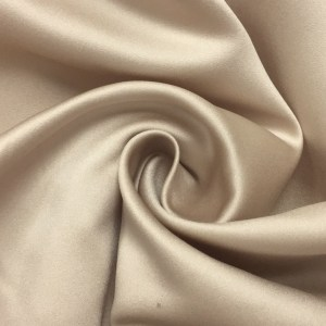 Pipe Pocket Taupe and Light Cream Satin Sample Swatch For Turn of Events Rental Drapery Las Vegas