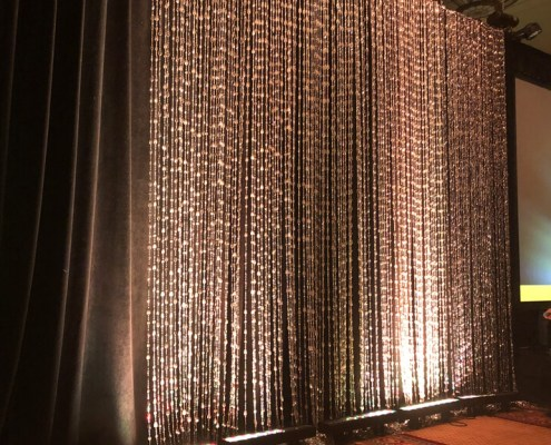 Uplit Silver Tear Drop Bead Panel Rentals from Turn of Events Las Vegas