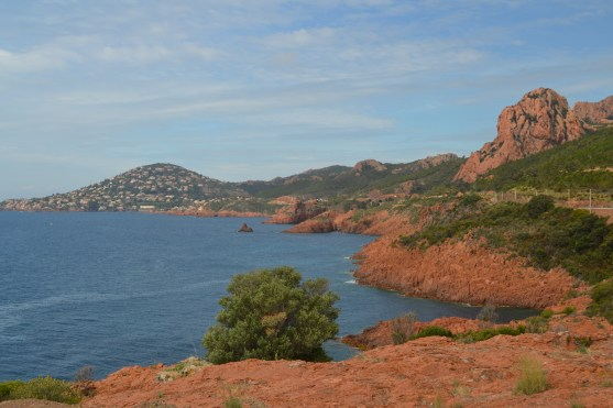 The coast road from Agay to Cannes