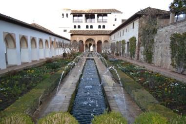 Water feature in the Alhambra