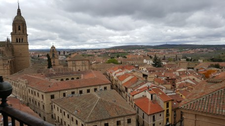 View across the rooftops in Salamanca