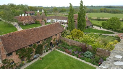 View from the top of the tower at Sissinghurst
